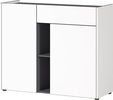 Viktor Small Sideboard - White and Graphite Finish image 2