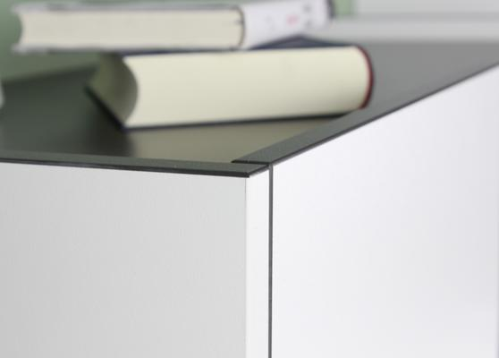 Viktor Small Sideboard - White and Graphite Finish image 4