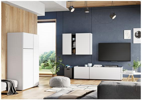 Viktor Wall Unit - White and Graphite Finish image 2