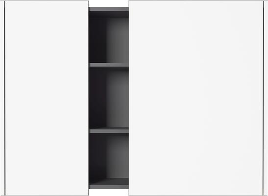 Viktor Wall Unit - White and Graphite Finish image 3