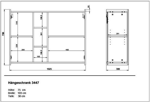 Viktor Wall Unit - White and Graphite Finish image 5