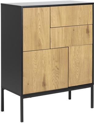 Seafor 3 door 2 drawer cupboard