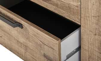 Manhattan Sideboard Three Drawers/One Door - Grey and New Aged Oak  Finish image 6