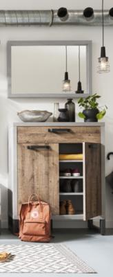 Manhattan Sideboard One Drawer/Two Doors - Grey and New Aged Oak  Finish image 2