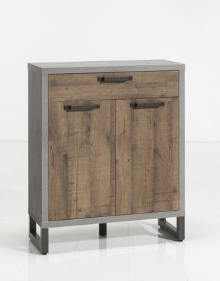 Manhattan Sideboard One Drawer/Two Doors - Grey and New Aged Oak  Finish image 3