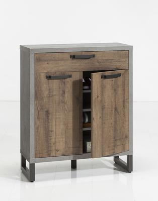 Manhattan Sideboard One Drawer/Two Doors - Grey and New Aged Oak  Finish