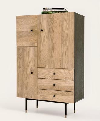 Jugend 3 door 3 drawer cupboard image 7