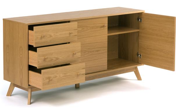 Letvi 2 door 3 drawer sideboard image 3
