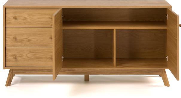 Letvi 2 door 3 drawer sideboard image 4