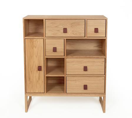 Slussen 1 door 5 drawer cupboard