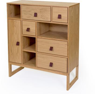 Slussen 1 door 5 drawer cupboard image 2