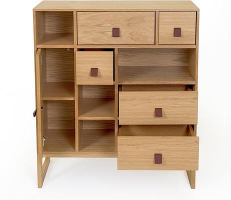 Slussen 1 door 5 drawer cupboard image 3
