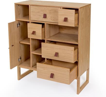 Slussen 1 door 5 drawer cupboard image 4