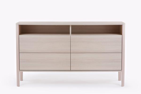 Oslo 4 drawer sideboard with shelves