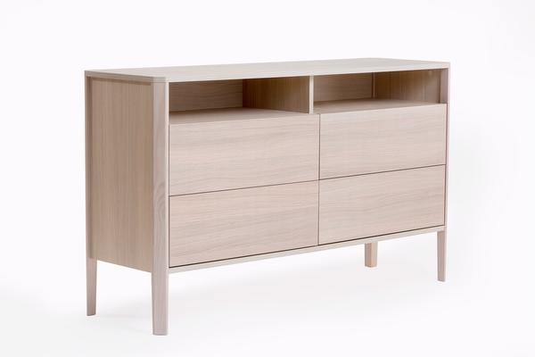 Oslo 4 drawer sideboard with shelves image 2