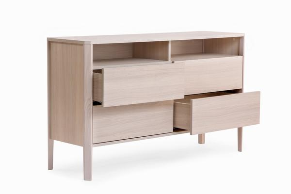 Oslo 4 drawer sideboard with shelves image 3