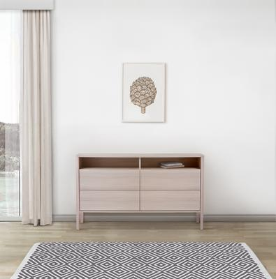 Oslo 4 drawer sideboard with shelves image 8
