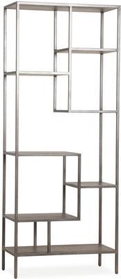 Titus Metal Display Unit Dark Oak Shelves