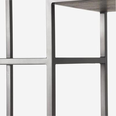 Titus Metal Display Unit Dark Oak Shelves image 5