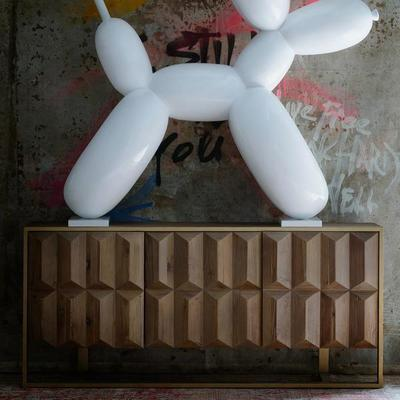 Amadeo Cubist Natural Wood Sideboard 3 Doors image 3