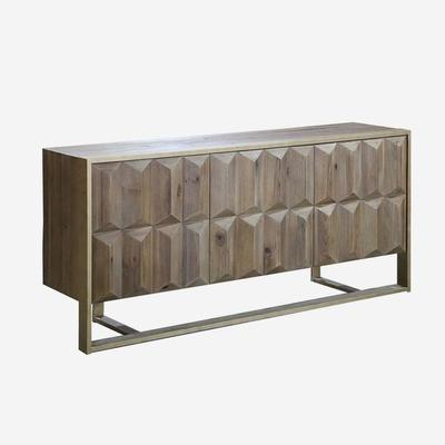 Amadeo Cubist Natural Wood Sideboard 3 Doors image 4