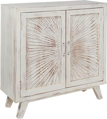 Nova Beach Style White Rustic Cabinet