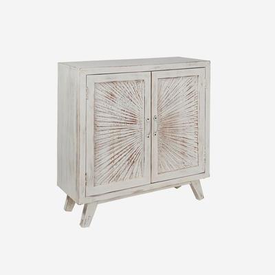 Nova Beach Style White Rustic Cabinet image 2