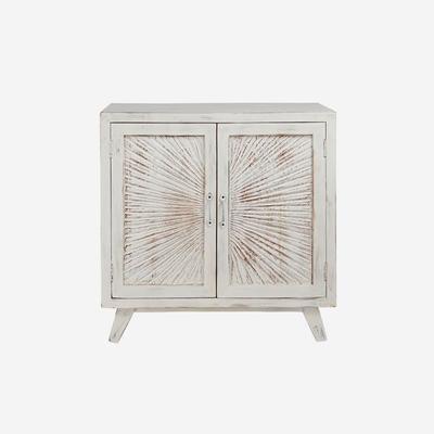 Nova Beach Style White Rustic Cabinet image 4