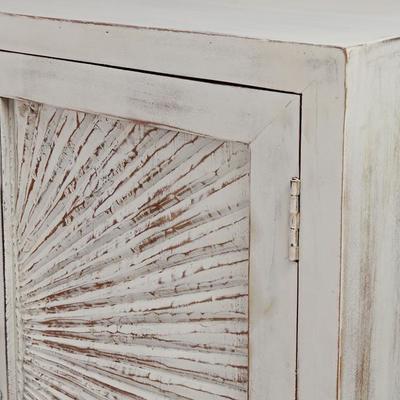 Nova Beach Style White Rustic Cabinet image 6
