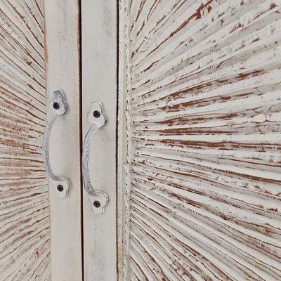 Nova Beach Style White Rustic Cabinet image 7
