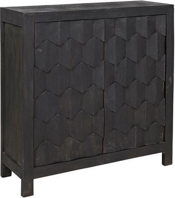 Boyd Cubist Black Ebony Cabinet