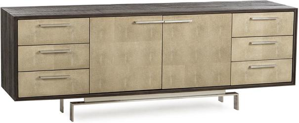 Latham Taupe Shagreen Sideboard 2 Door 6 Drawer