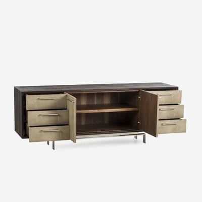 Latham Taupe Shagreen Sideboard 2 Door 6 Drawer image 3