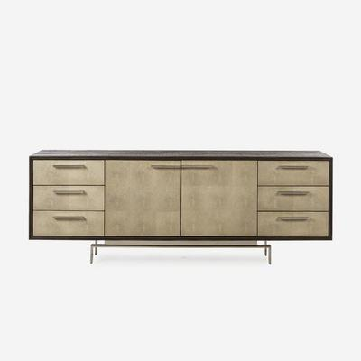 Latham Taupe Shagreen Sideboard 2 Door 6 Drawer image 5
