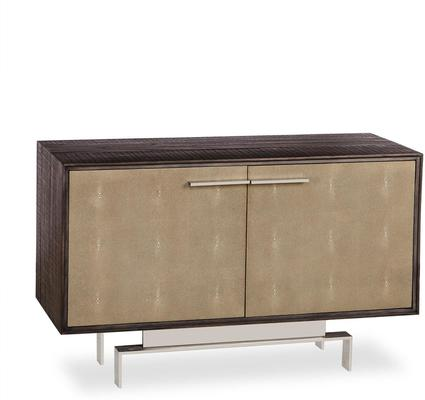 Latham Taupe Shagreen Storage Cabinet Two Door