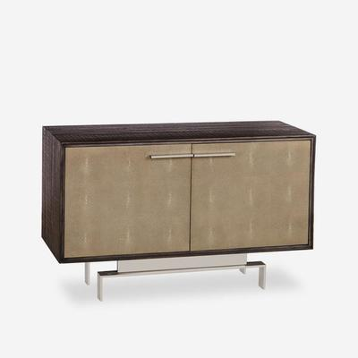 Latham Taupe Shagreen Storage Cabinet Two Door image 2