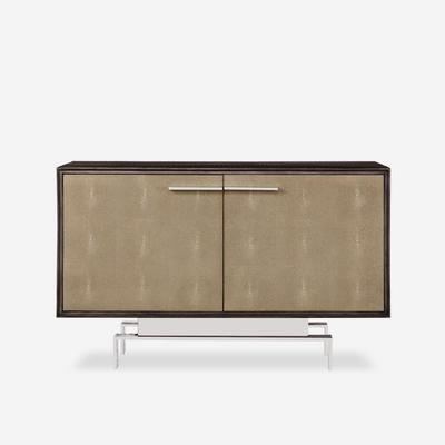 Latham Taupe Shagreen Storage Cabinet Two Door image 4