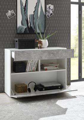 Salerno Sideboard - White and Grey Finish image 2