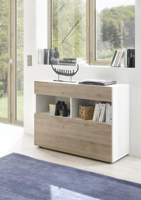 Salerno Sideboard - White and Cadiz Oak Finish