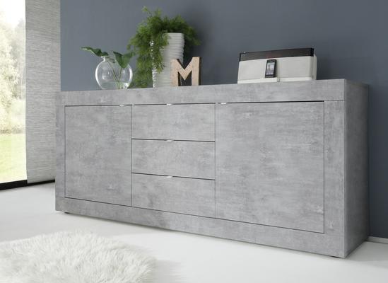 Urbino Collection Sideboard Two Doors/Three Drawers - Grey Finish
