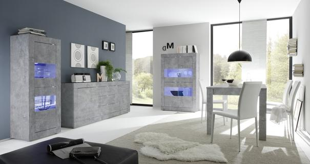 Urbino Collection Sideboard Two Doors/Three Drawers - Grey Finish image 2
