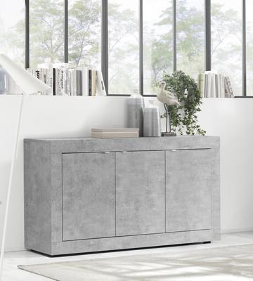 Urbino Collection Three Door Sideboard  - Grey Finish