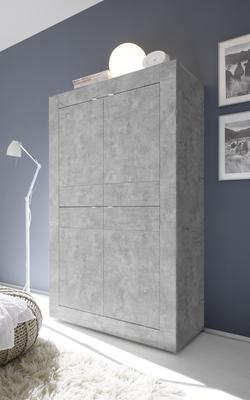 Urbino Collection Four Door High Sideboard - Grey Finish