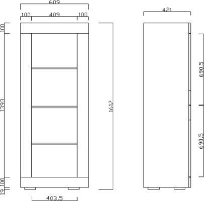 Urbino Collection Two Door Display Vitrine with optional  LED Spotlights - Grey Finish image 3