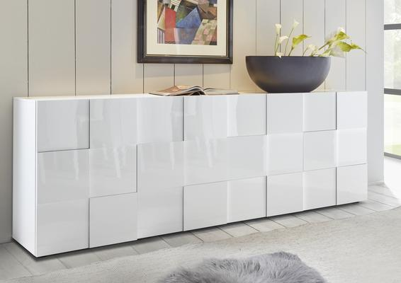 Treviso Four Door Sideboard -  White High Gloss