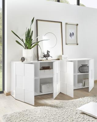 Treviso Four Door Sideboard -  White High Gloss image 2