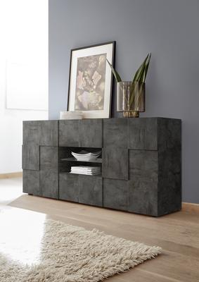 Treviso Sideboard - Two Doors/Two Drawers Anthracite Finish