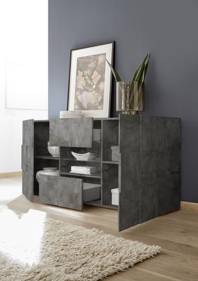 Treviso Sideboard - Two Doors/Two Drawers Anthracite Finish image 2