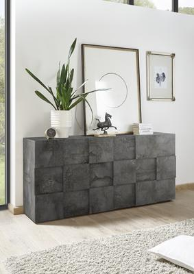 Treviso Sideboard - Three Doors Anthracite Finish