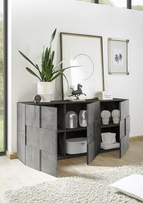 Treviso Sideboard - Three Doors Anthracite Finish image 2